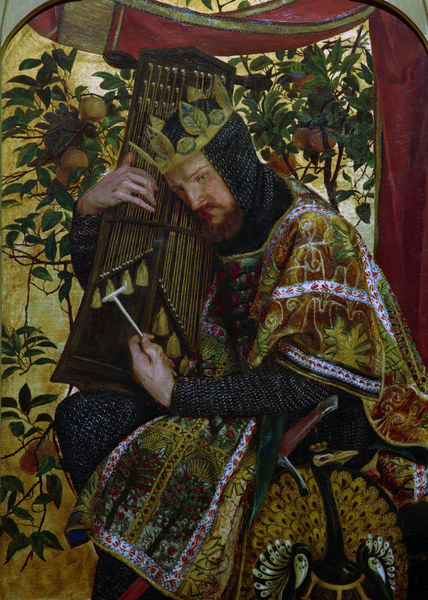 Titulo de la imágen Dante Gabriel Rossetti - D.G.Rossetti / David as King.