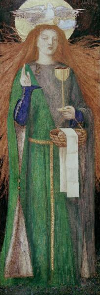 D.G.Rossetti / Maiden of the Grail
