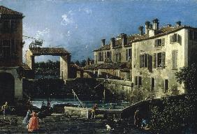Dolo / Lock of the Brenta / Canaletto