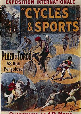 Exposition Internationale Cycles et Sports, advertisement for international exhibition dedicated to