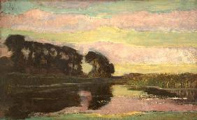 River landscape with�/c. 1907