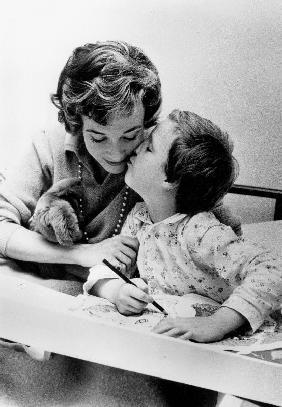 French Actress Micheline Presle with daughter Tonie Marshall