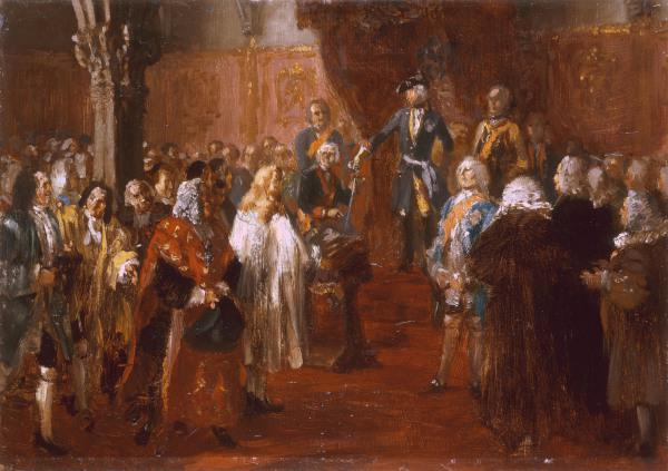 Frederick II receives homage in Silesia