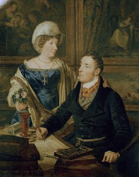 F.G.Waldmüller / Cartographer and wife