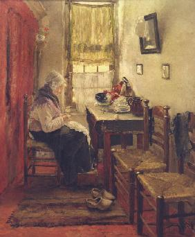 F.v.Uhde / Old People s Home / 1882