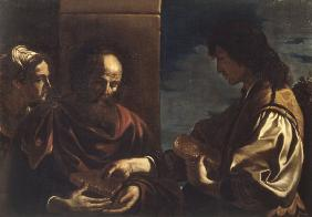 Guercino / Samson brings honey