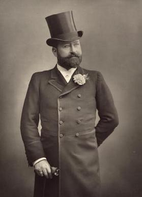 George Robert Sims (1847-1922), journalist and playwright, portrait photograph by Stanislas Walery (