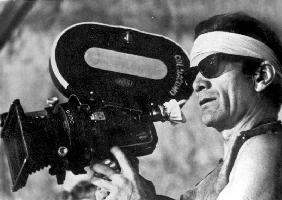 Italian director Pier Paolo Pasolini on set of film Canterbury Tales
