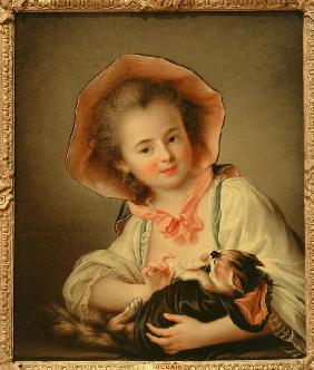 Young Girl Playing with a Cat