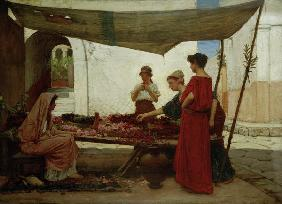 J.W.Waterhouse / A Flower Stall / 1880