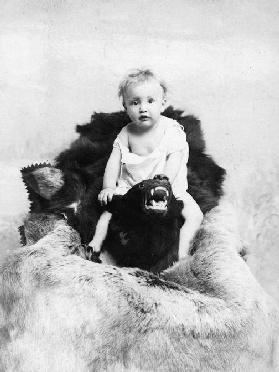 Boy On A Bear Skin