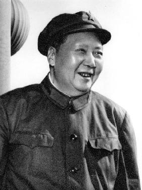 Mao Tse Toung chinese President here during review of army of The Great Proletarian Cultural Revolut