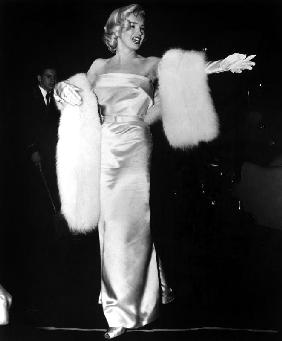 Marilyn Monroe at premiere of film Call Me Madam