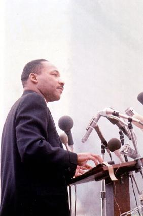 Martin Luther King American priest activist for Civil Right Movement black Americans
