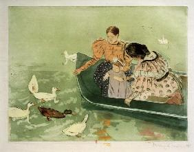 M.Cassatt, Feeding the Ducks