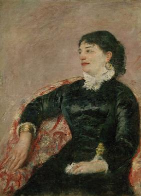 M.Cassatt, Portrait of an Italian Lady