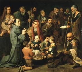 Murillo,Diego of Alcala feeding the poor