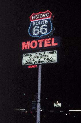 Route 66 which cross United States from Los Angeles to Chicago