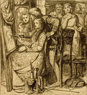 Rossetti / Love s Mirror / Pen and Ink