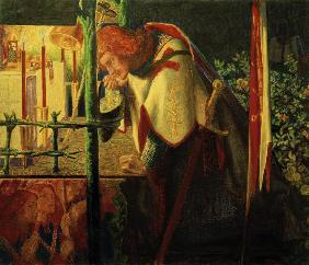 Rossetti / Sir Galahad at ruined chapel
