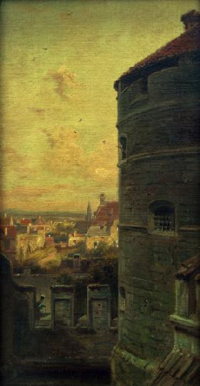 Rothenburg, Faulturm / Gem.v.Spitzweg