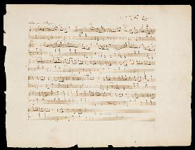 Autographed Manuscript  Of ''Valse Opus 70 No