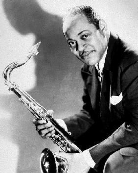 The saxophonist Coleman Hawkins in 40's