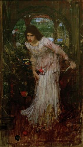 Tennyson, The Lady of Shalott/Waterhouse