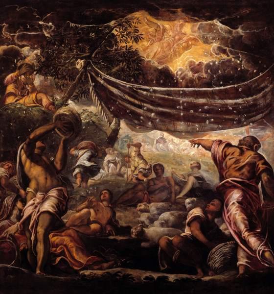 Tintoretto The Manna Harvest Jacopo Robusti Tintoretto