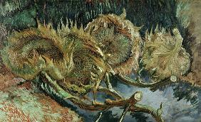V.van Gogh, Four Cut Sunflowers /Paint.
