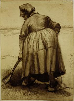 V.van Gogh, Peasant Woman Digging /Draw.
