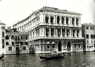View of Palazzo Pesaro or the Ca' Pesaro, designed by Baldassare Longhena (1598-1682) (b/w photo)