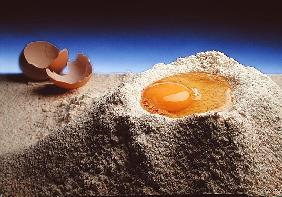 Egg & Flour, 1994 (colour photo)