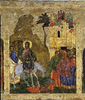 The Entry into Jerusalem, Russian icon from the iconostasis in the Cathedral of St. Sophia