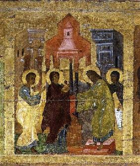 The Presentation in the Temple, Russian icon from the iconostasis in the Cathedral of St. Sophia