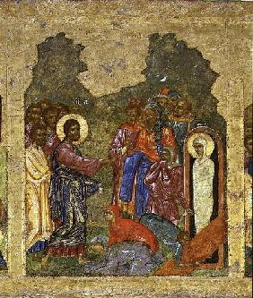 The Raising of Lazarus, Russian icon from the iconostasis in the Cathedral of St. Sophia