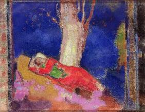 Woman Sleeping under a Tree