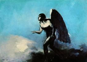 The Winged Man or, Fallen Angel, before 1880 (oil on cardboard)