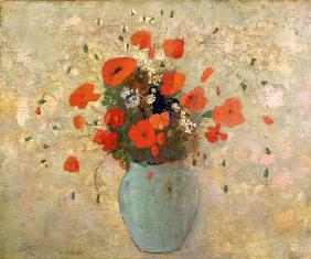 Vase of poppies