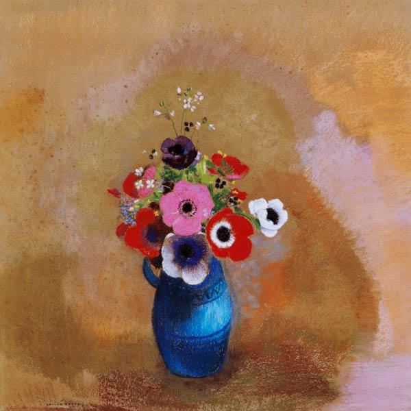 Bouquet of anemones (pastel)