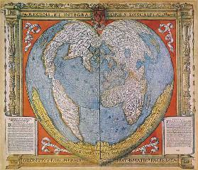 Heart Shaped World Map
