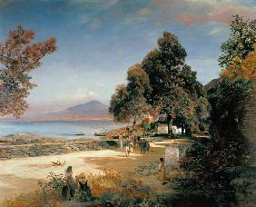 Oswald Achenbach - Golf of Naples