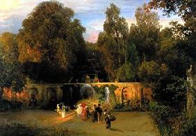 Achenbach, Oswald : In the park of the villa T...