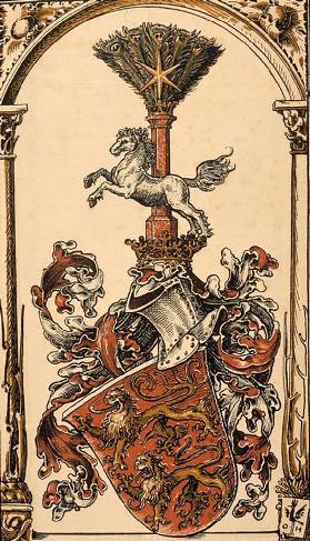 The root coat of arms of the German princely houses: The Welfen