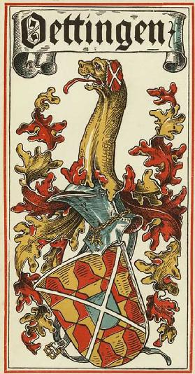 The family coat of arms of the German royal houses: Öttingen