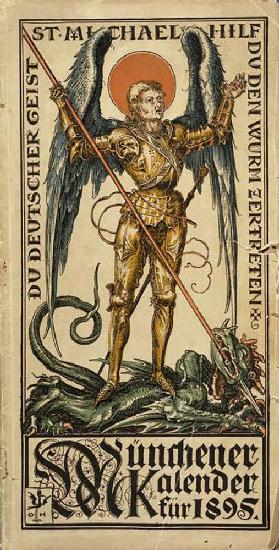 You German spirit, St. Michael, help to crush the worm