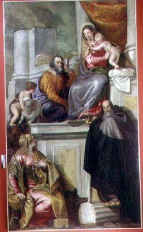 The Holy Family with St. John the Baptist, St. Anthony Abbott and St. Catherine