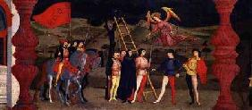 Predella of the Profanation of the Host: The Repentant Christian Woman is Hanged for Pawning the Con