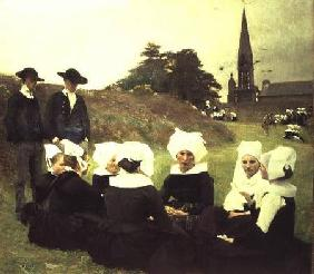 Breton Women Sitting at a Pardon