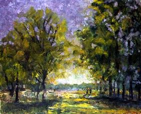 Park in October, 1998 (oil on canvas)